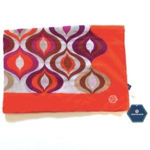 NWT Jonathan Adler Tonal Waves Scarf Wrap Orange